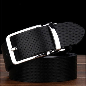 Brand Plaid belt Wild retro classic men's genuine leather belt