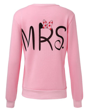 Blusas 2016 Autumn Casual Long Sleeve Mr Mrs