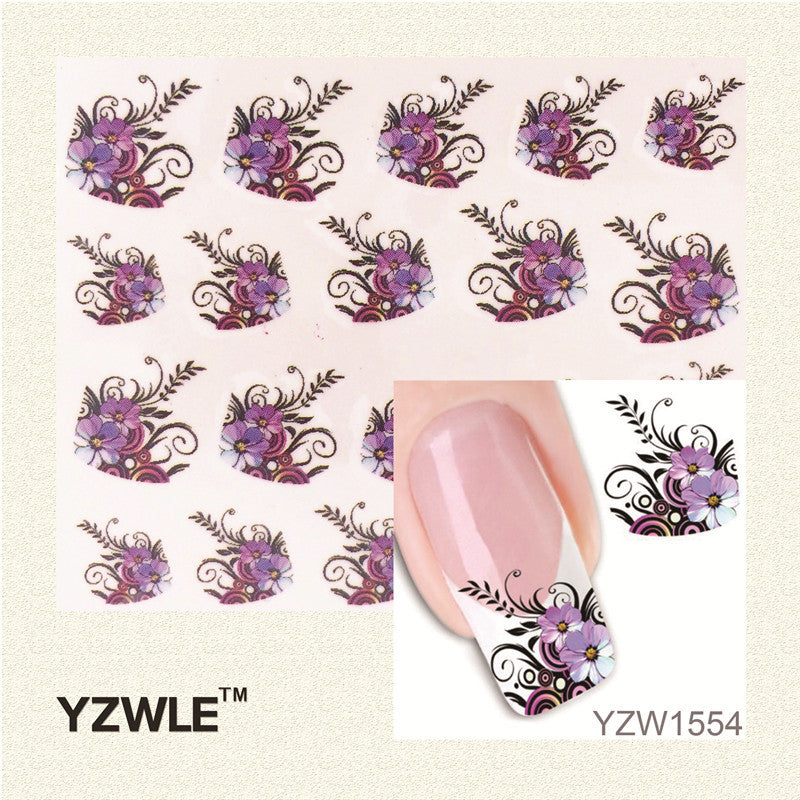 1 Sheet New Arrival Water Transfer Nail Art Stickers Decal Beauty Black Swan&Feather Design Manicure Tool - Gifts Leads