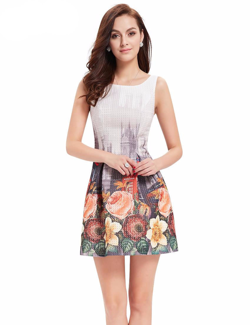 Cocktail Dresses Ever Pretty Women Sexy Flower Dress Round Neck Summer Dress New Arrival Summer Style Cocktail Dress