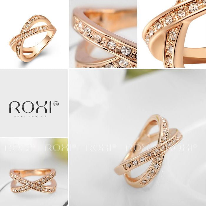 Royal Women's Jewelry High Quality Classic Elegant Ring Rose Gold Plated