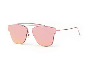 Women's Sunglasses Metal Frame Reflective Coating Mirror