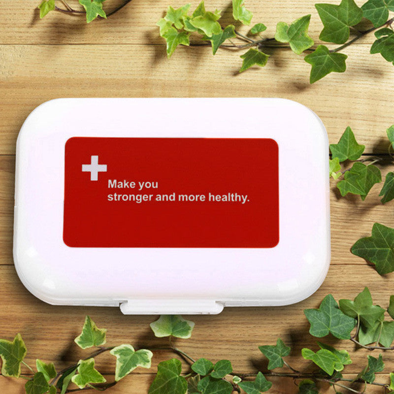 #F9s Portabe Multilayer 8 Compartment Red Moistureproof Pill Case Pill Organizer Medicine Box Drugs Pill Container - Gifts Leads