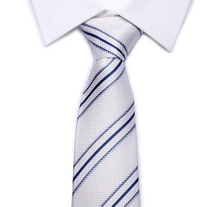 2016 brand fashion Men's Blue Ties handkerchief silk Plaid Necktie - Gifts Leads