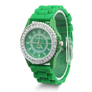 14 Colors Fashion Silicone GENEVA Watch - Gifts Leads