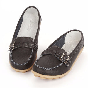 New 2016 women genuine leather shoes women flats slip