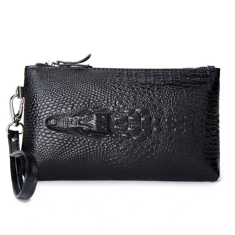 Crocodile Genuine Leather Women Day Clutch Fashion Handbags