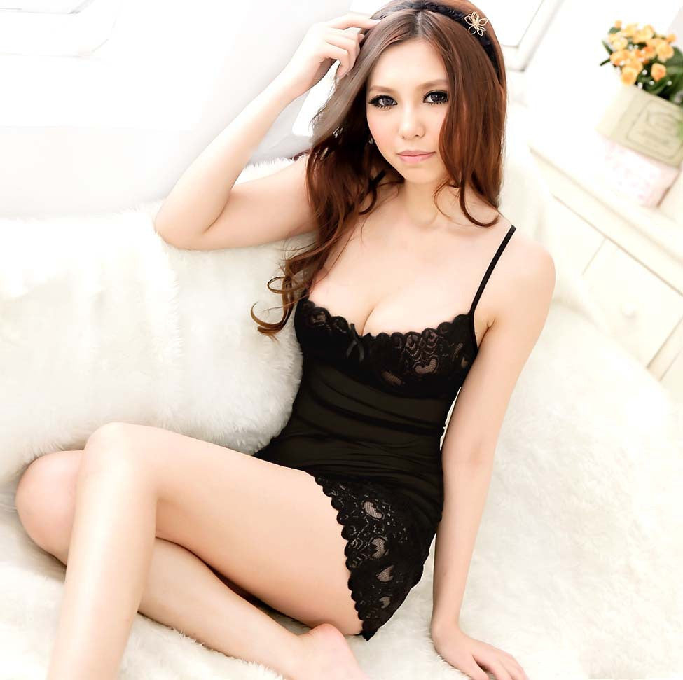 Summer Female Short Sexy Pajamas Lace Transparent