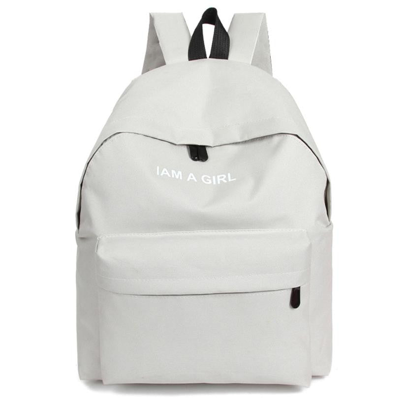 Unisex Boys Girls Canvas Backpack 2016 Fashion