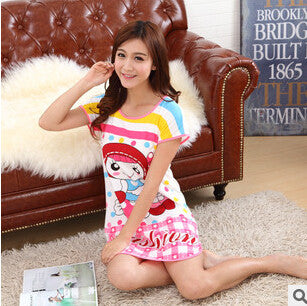 Great Cute Women's Cartoon Polka Dot Sleepwear Pajamas