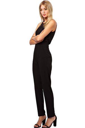 Womens Ladies Sleeveless Jumpsuit Bodycon