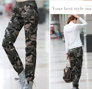 2016 Winter New Womens Fashion Casual Loose Camouflage