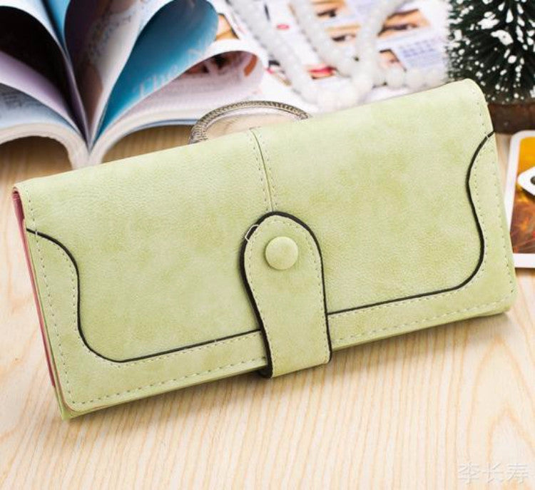 2016 Women's Wallets Fashion Trendy Candy Color Multi-card