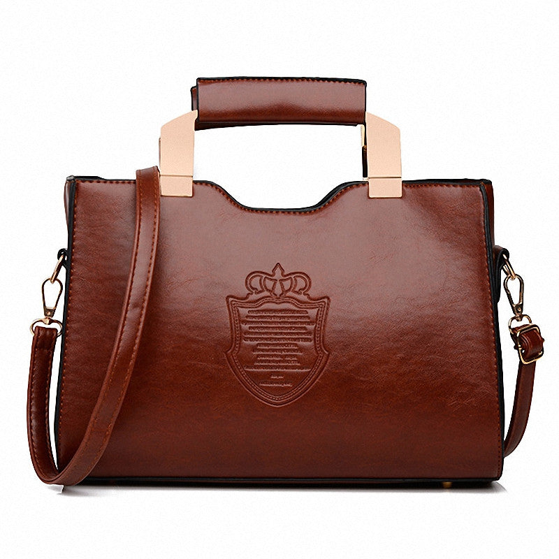 Bolsa Feminina 2016 Women Iron Crown Women Handbags Shield High Quality Woman Leather Women Clutch Handbag Messenger Bags bolsos