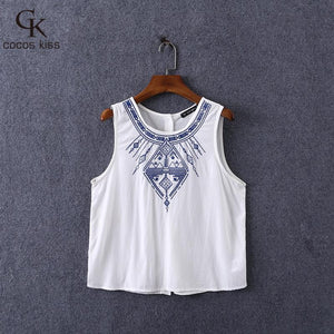 2016 New Fashion Ladies' Elegant Embroidery Short Crop