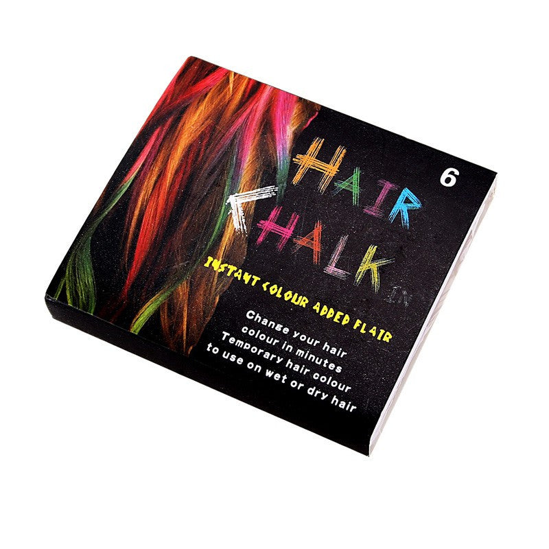 Beauty 6 PCS Convenient Temporary Super Hair Dye Colorful Chalk Hair Color Alcohol-Free chalks for the hair giz pastel