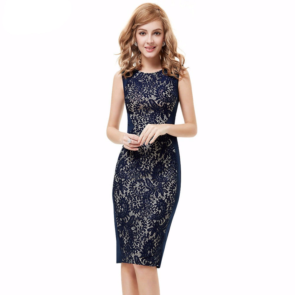 Special Discount Ever-Pretty Black White Single Shoulder Flower Mini Cocktail Dress