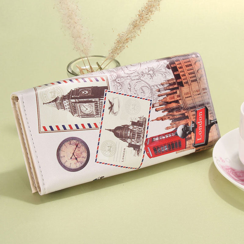 2016 Hot Sale Women Purse Long Leather Printing Women Wallets