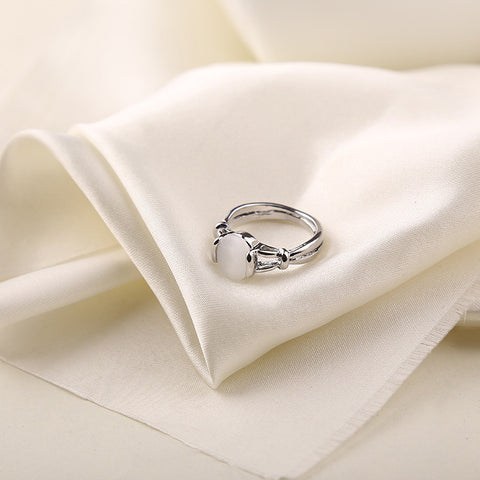 High Quality Twilight Jewelry Bella Same Moonstone Ring Silver Plated Ring