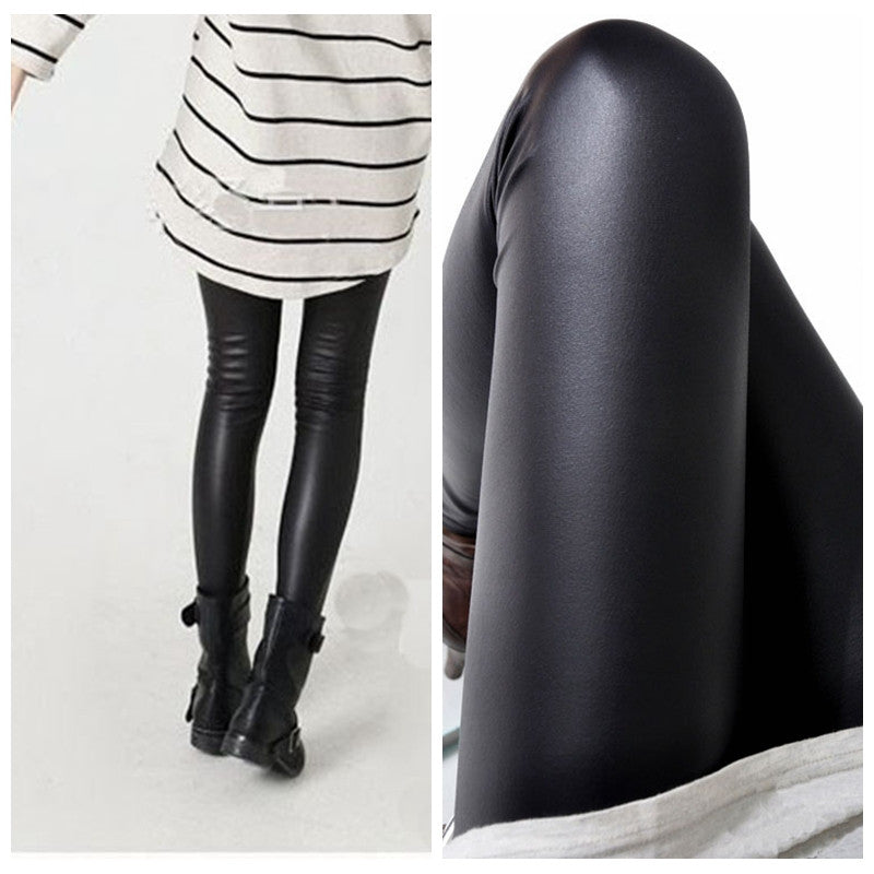 Black women leggings faux leather high quality