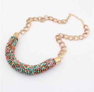 Choker vintage jewerly bead Necklaces & Pendants fashion colar exaggerated statement necklace for women 2016