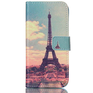Printed Wallet Flip PU Leather Case For Apple iPhone 4 4S