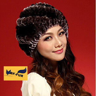 High Quality Real Rex Rabbit fur for female hats ladis hat womens