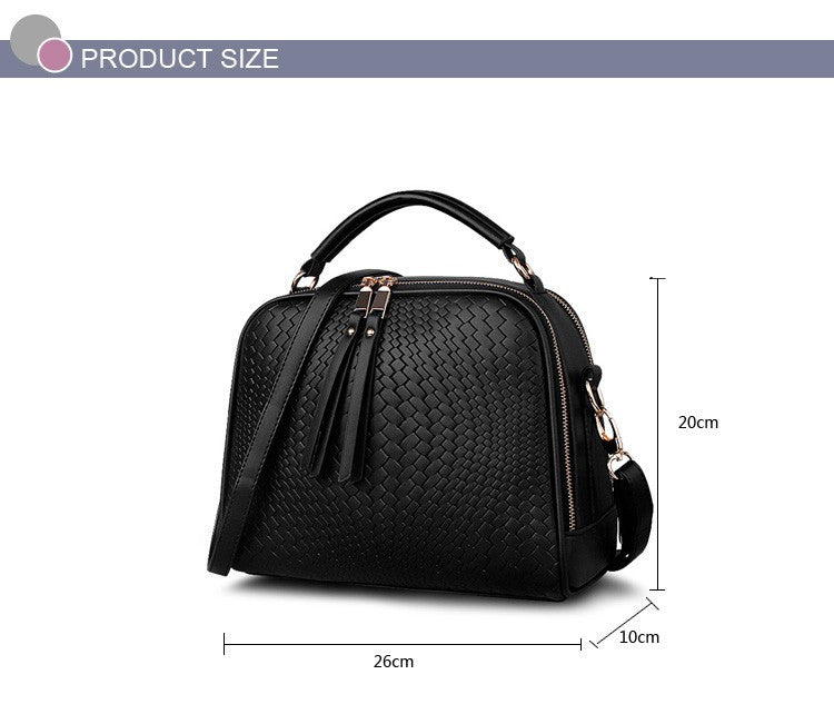 2016 Spring Women Bags Weave Tassel Women PU Leather Handbags Women Shoulder Bag Ladies Casual Women Messenger Bags New BH1150