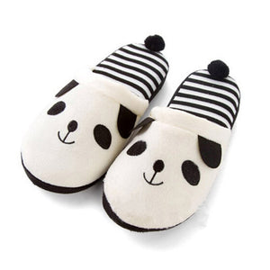 Adorable Fluffy Ladies Autumn Winter Warm Plush Anti-slip Panda
