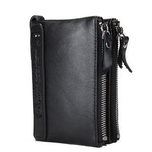 HOT!!! Genuine Crazy Horse Cowhide Leather Men Wallet