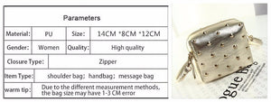 Magic Birds 2016 Rivet Women Bags Fashion metal bag