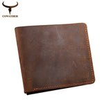 Crazy horse leather men wallets Vintage genuine leather wallet