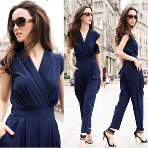New 2017 Jumpsuit women's overall sexy fashion waist jumpsuit pants coveralls 3 colors