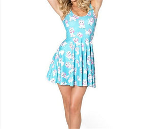 2016 Sexy Women Casual Dress Marie Reversible Skater Dress