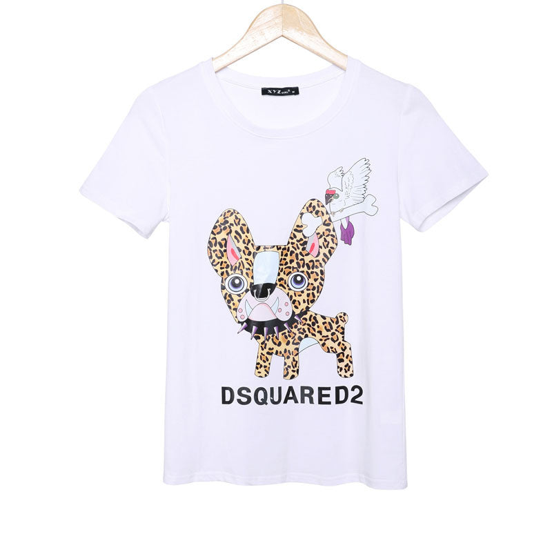 2016 Fashion brand t shirt women printed t-shirt summer short sleeve causal punk rock plus size tees t-shirts women woman tops - Gifts Leads