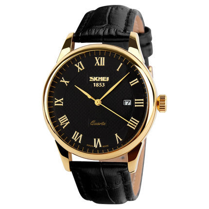 Fashion Leather Strap Quartz Men Casual Watch Calendar