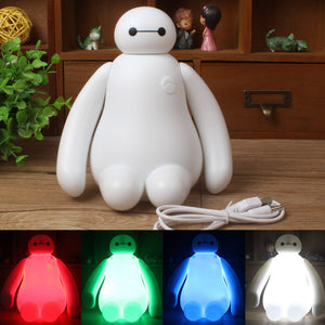 1PC Color Changing Big Hero 6 Baymax USB LED Table Light Creative Desk Lamp 16cm Cartoon Nightlight Kids Gift Home Decor 2015 - Gifts Leads