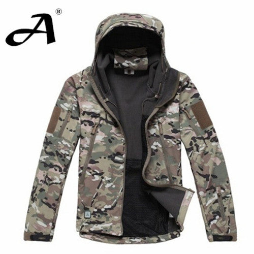 Army Camouflage Coat Military Jacket Waterproof Windbreaker