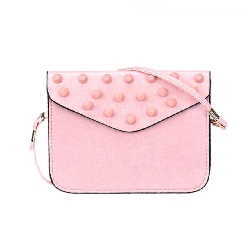 Popular women messenger bags candy color PU