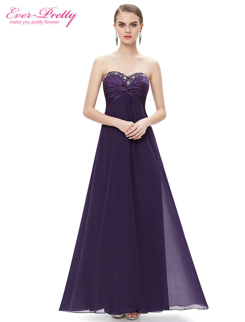 Rhinestones Ruffles Purple Crystal Beads evening dress 2016 new arrival mother of the bride dresses