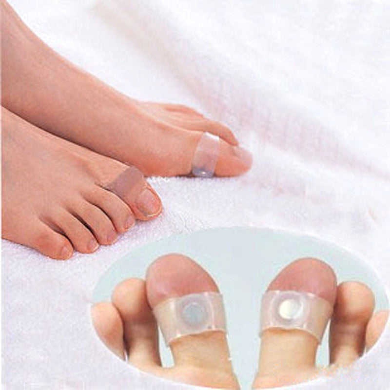 2 Pair Slimming Silicone Foot Massage Magnetic Toe Ring Fat Weight Loss Health Foot care - Gifts Leads