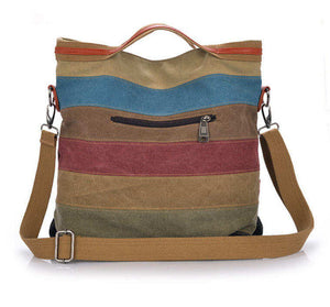 2016 new stripe vintage Women shoulder pouch messenger bag women canvas handbag women's handbags patchwork women bag