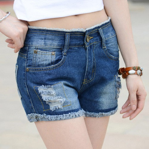 2016 New Hollow Out Ripped Women's Jeans Shorts Summer Style Sexy Hole Denim Shorts Washes Fashion Hot Shorts 25 - 38