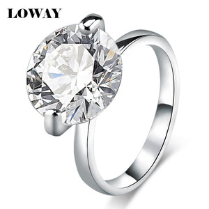 Fashion Gorgeous Stunning Ultra Big 10 Carat Cubic Zirconia Platinum Plated