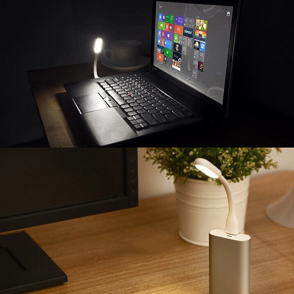 1 pcs New Ultra Bright 1.2W LEDs USB lamp for Notebook Computer Laptop PC Portable Flexible metal Neck LED USB light foldable - Gifts Leads