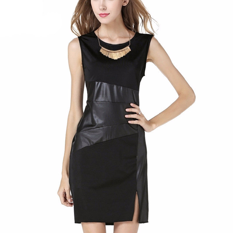 2016 Sexy New Women Summer Party Dress Black