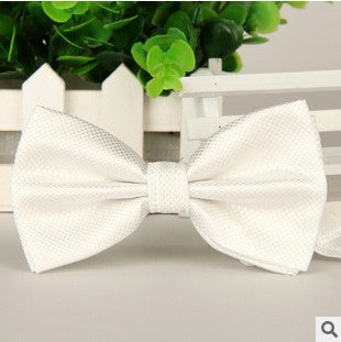 New 2016 Men Fashion Polyester Silk Bow Tie Plaid Bow Ties