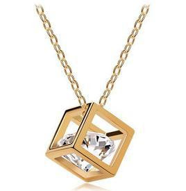 Fashion Eight hearts and eight arrows zircon square Necklace wholesale B6.5