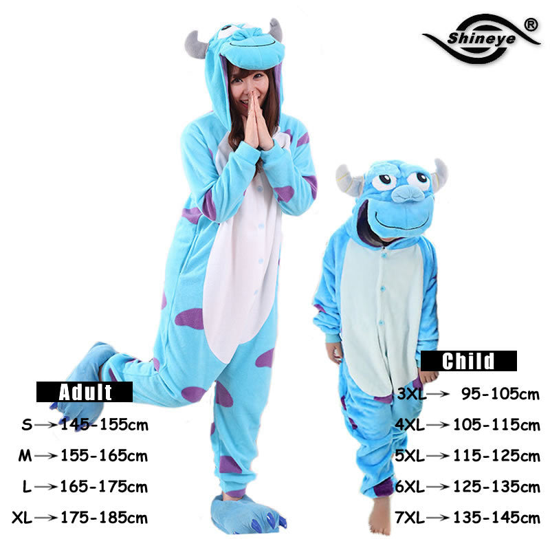 Unicorn Stitch Totoro Kigurumi Adult Unisex Flannel
