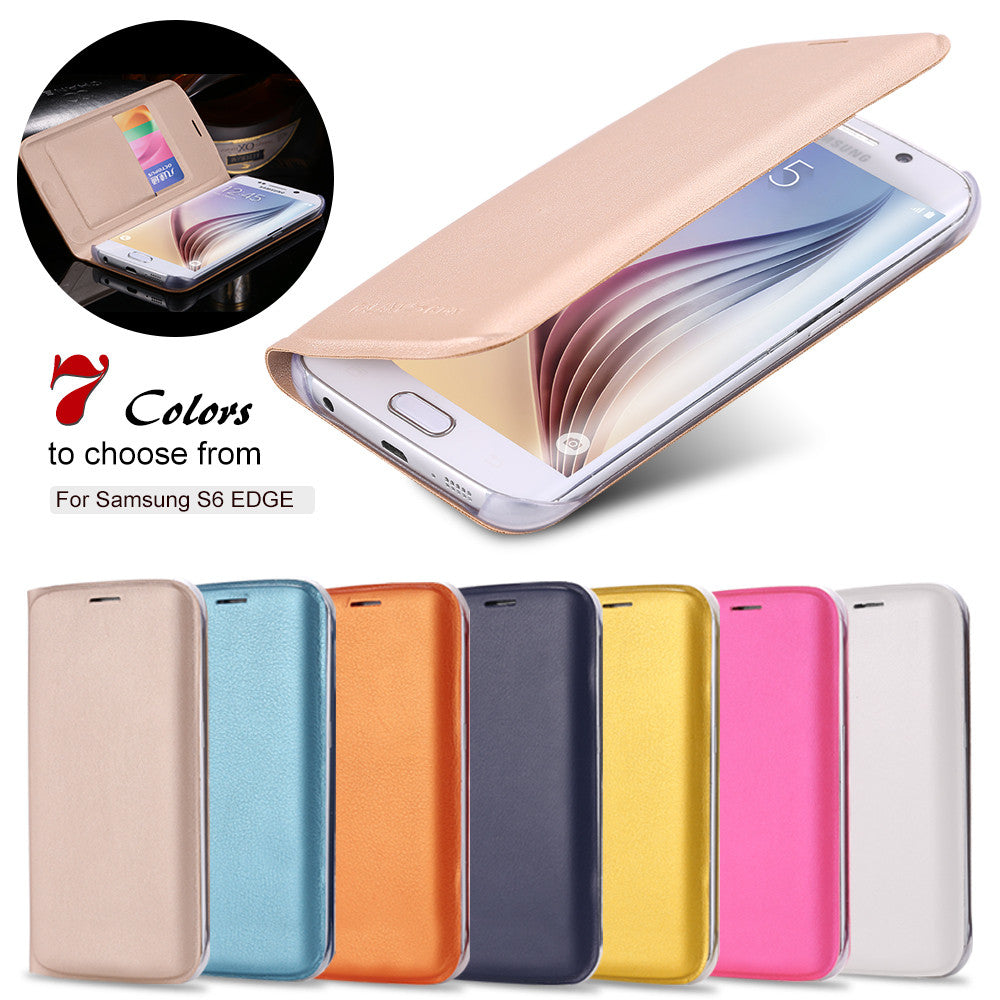 Business Style Black Slim Ultra Flip PU Leather Case For Samsung